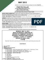 May 2012 Agenda