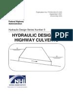 Hydrualic Design of Culvert