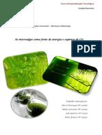 Trabalho Sobre as Microalgas Como Fonte de Energia e Captura De1 CO2