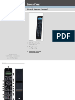 Manual Silver Crest Sfb 10.1 a1 10-In-1 Remote Control