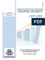 Training Calender 2011-2012