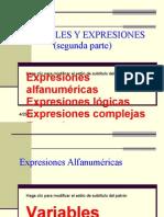 Variables y Expresiones Segunda Parte