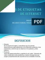 Normas de Etiquetas de Internet