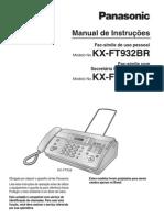 Manial Do Fax Panasonic Modelo Kx-ft932br-b