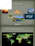 Seven Wonders of the World Group Ppt