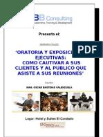 Temario Oratoria y Exposiciones Ejecutivas OBB