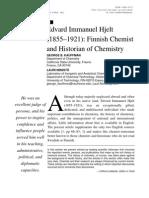 Edvard Immanuel Hjelt Finnish Chemist and Historian of Chemistry