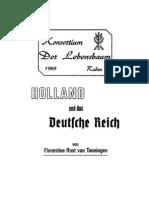 Florentine Rost van Tonningen - Holland und das Deutsche Reich. Drei Reden  von Frau Florentine Rost van Tonningen