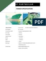 Ship Partikular Oil Tanker Mt.petro Marine i
