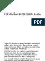 PERSAMAAN DIFERENSIAL BIASA