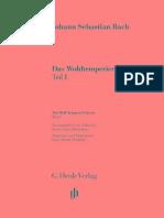 Bach - Das Wohltemperierte Klavier Henle Verlag