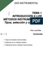 Tema 1 Introducción a los métodos instrumentales Clase repaso III-2011