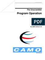 The Unscrambler Program Operation