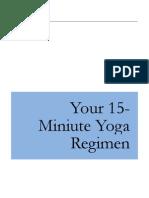 15 Minute Yoga Routine