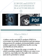 Failure Mode and Effect Analysis of Suspension System