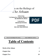En Fatawa on the Rulings of the Adhaan