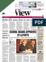 Belleville View front page April 26