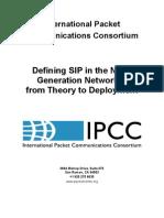 Defining SIP in NGN