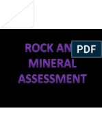 rock and mineral assessment