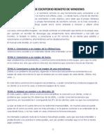 Manual de Escritorio Remoto de Windows