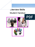 Interview Skills Student Handout