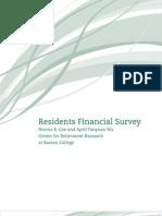 Residents Financial Survey