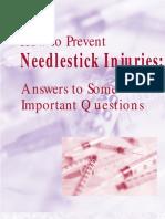 Needle Stick Prevention Osha3161