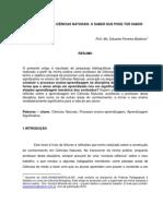 Artigo - Ensino de Ciências - Prof. Eduardo