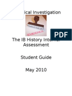 Historical Investigation (IB History Internal Assessment) Student Guide