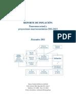 BCRP Reporte de Inflacion Diciembre 2011