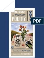 The Best American Poetry 2011 and 2012 (Selected Poems)