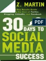 30 Days to Social Media Succes