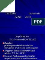 Indikator Indonesia Sehat 2010