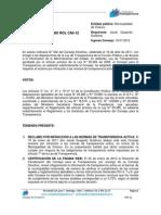 Decisión Reclamo Rol C60-12
