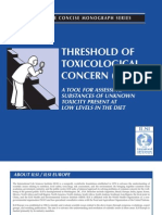 ILSI Threshold of Toxicological Concern