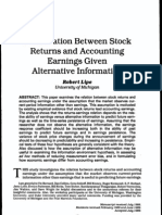 The Relation Between Stock Returns and Earnings