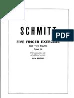 Schmitt Five Finger Exercises Op 16