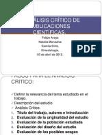 GUÍA PARA EL ANÁLISIS CRÍTICO DE PUBLICACIONES
