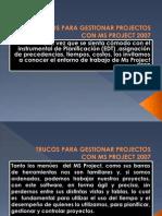 Trucos Para Gestionar Projectos Con Ms Project 2007