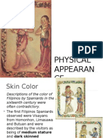 16thC Bisayas - 01 - Physical Appearance