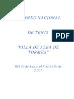 Dossier Presentacion i Torneo Villa Alba de Tormes
