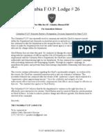 Columbia FOP- Burton Must Resign