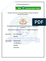 Corporation Bank Report