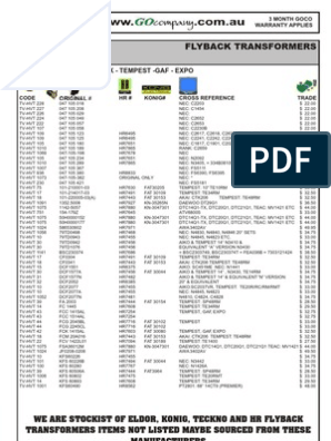 E H T Equivalents .pdf | Display Technology | Electrical ... Old Crt Challenger Wiring Diagram on