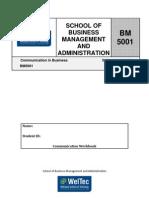 BM 5001 Communication Workbook1002.Doc