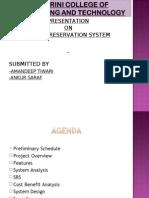 Presentation Airline Reservation System