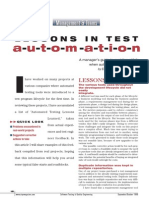 Lesson in Test Automation
