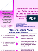 Breast cancer onset age