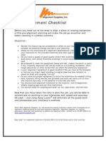 2012 Asi - Shaft Alignment Checklist