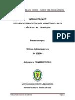 INFORME VISITA OBRAS BOCATOMA WILLIAM PATIÑO